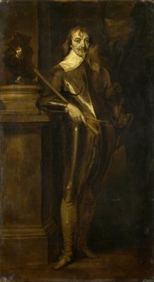 Anthony van Dyck. Portrait of Robert rich, 2nd Earl of Warwick