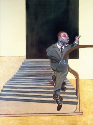 Фрэнсис Бэкон. Портрет мужчины, спускающегося по лестнице