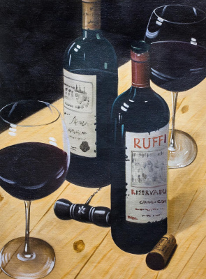 Savely Kamsky. Still life with red wine N2