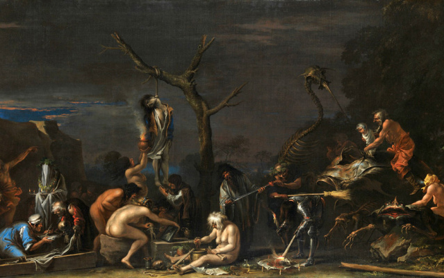 Salvator Rose. Witches and their witchcraft