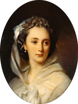 Иван Кузьмич Макаров. Портрет А.Д.Соломирской. 1850-е