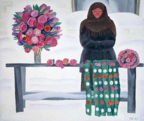 Tetyana Yablonska. Paper flowers