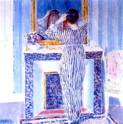 Фридрих Карл Фриске. Голубой интерьер