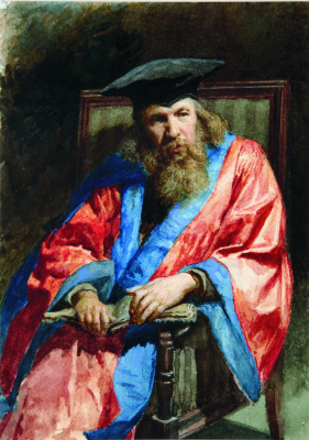 Nikolay Aleksandrovich Yaroshenko. Portrait of DI Mendeleev. 1885