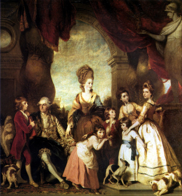 Joshua Reynolds. The Fourth Duke of Marlborough with the family