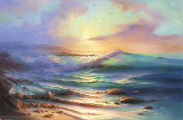 Julia Dmitrievna Astrovskaya. Dawn at Cape Ai-Todor
