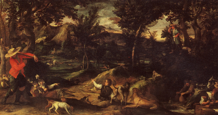 Annibale Carracci. Hunting
