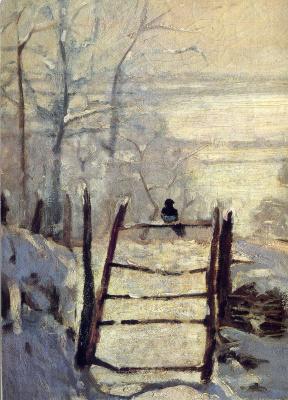 Клод Моне. Сорока в снегу, фрагмент