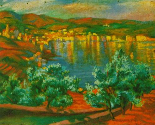 Salvador Dali. The festival Santa Lucia in Villa Malla