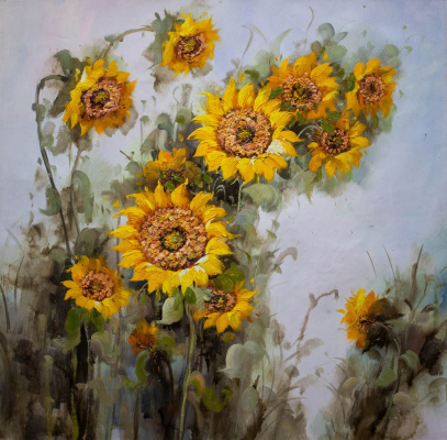 Maria Potapova. Still life with sunflowers N1
