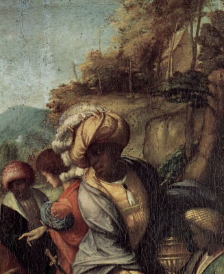 Antonio Correggio. The adoration of the Magi, detail