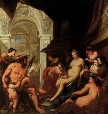 Антонио  Беллуччи. Геркулес во дворце Омфалы