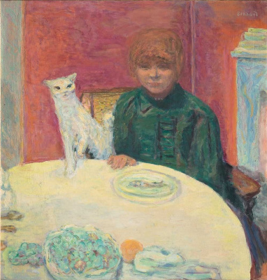Woman with a cat (picky cat)