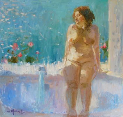 Альберт Щитков. Ванная комната с видом на море