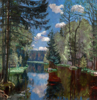 Stanislav Yulianovich Zhukovsky. Forest lake