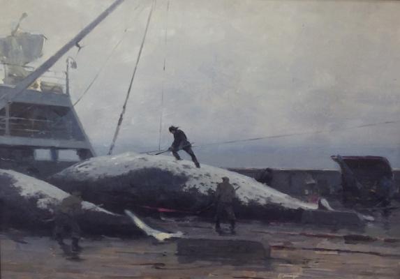 Евгений Николаевич Скитальцев. Разделка кита