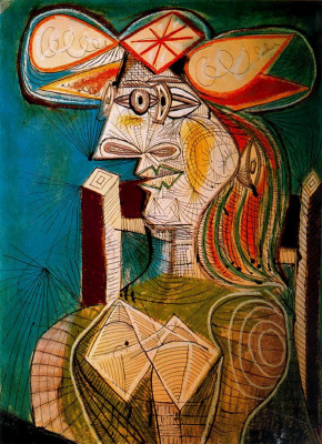 Pablo Picasso. Seated woman. Dora Maar
