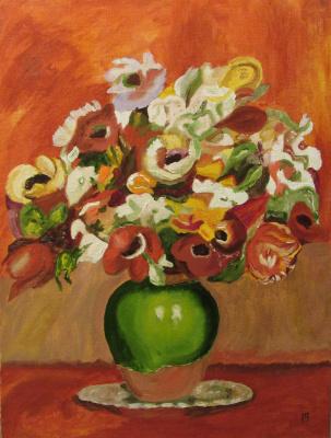 Арташес Владимирович Бадалян. Renoir. Flowers - x-hardboard-m - 40x30