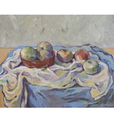 Laura Ladeishchikova. Still life with apples