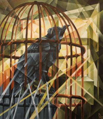 Vasily Krotkov. Raven. Kubofuturizm