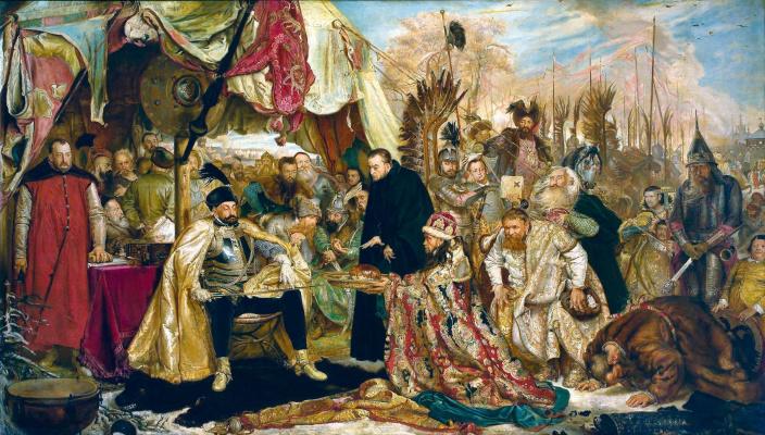 Jan Matejko. Stephen Batory near Pskov