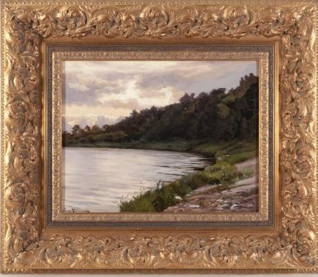 Joseph Evstafievich Krachkovsky. River bank. Private collection.