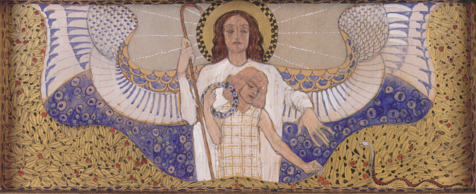 Koloman Moser. Am Steinhof Church, Design for the right side altar Guardian angel