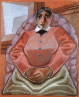 Juan Gris. The woman in the chair