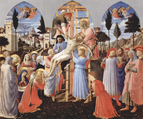 Fra Angelico. The descent from the cross
