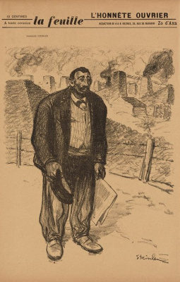 "Theophile-Alexander Steinlen. Honest hard worker. Cover for the magazine ""life"""