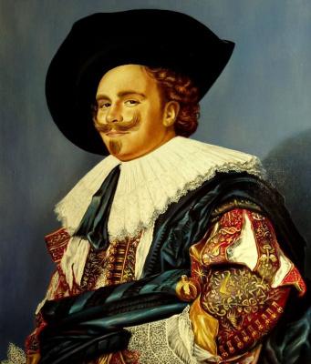 Valery Vasilyevich Litvinov. Smiling cavalier (copy of Hals)