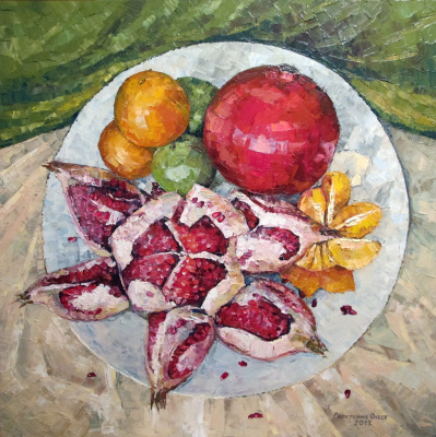 Olesya Rapotkin. Still life with pomegranates
