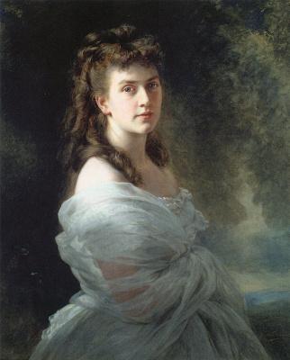Franz Xaver Winterhalter. Alexandrina von Shlippenbah, nee Metzler,