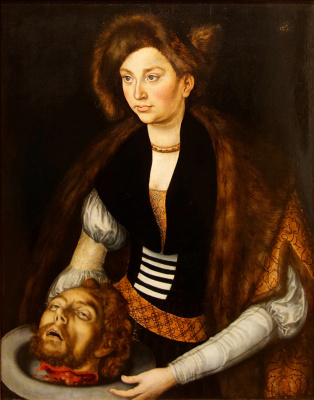 Katharina of Saxony in the image of Salome with the head of John the Baptist