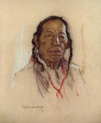 Николас де Гранмезон. Индейский портрет 48