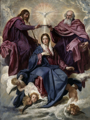 Diego Velazquez. The Coronation Of The Virgin