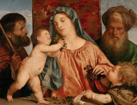 Titian Vecelli. Madonna with cherries