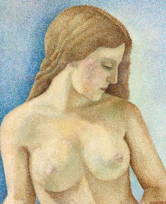 Maria Bronislavovna Marevna (Vorobyeva-Stebelskaya). Bust of a Nude in profile.