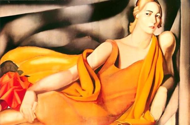 Tamara Lempicka. Woman in yellow dress