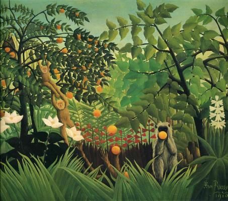 Henri Rousseau. Exotic landscape