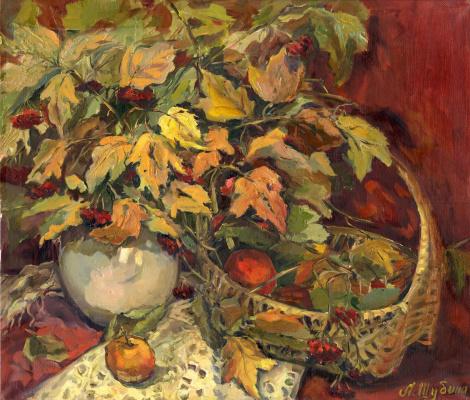 "Larisa Georgievna Shubina. ""Bouquet of viburnum"""
