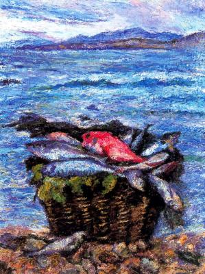 Хуан Луис Лопес Гарсиа. Корзина с рыбой