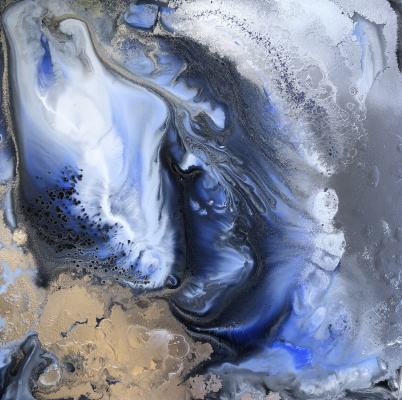 Margarita Andreevna Yakuncheva. Deep blue. Diptych