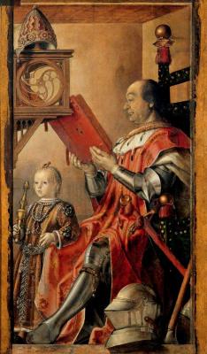 Педро Берругете. Герцог Урбино Федериго да Монтефельтро с сыном Гвидобальдо