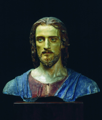 """Ivan Nikolayevich Kramskoy. Christ. Bust-a sketch for the painting """"Laughter"""""""