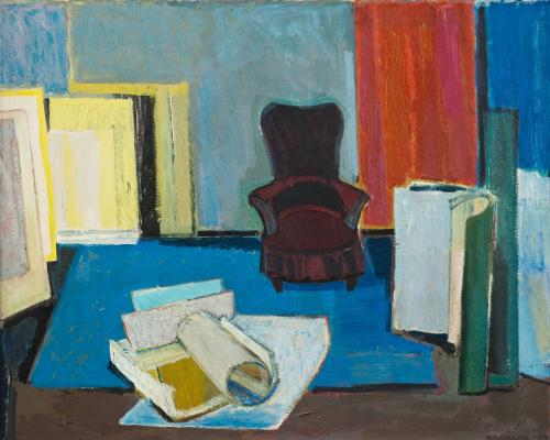 Tove Jansson. Studio interior