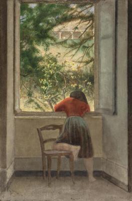Balthus (Balthasar Klossovsky de Rola). Girl by the window