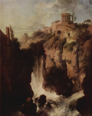 Христиан Вильгельм Эрнст Дитрих (Дитрици). Водопад в Тиволи