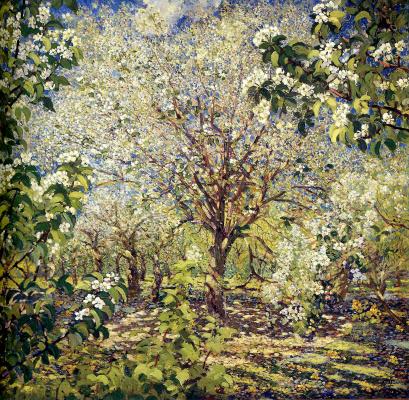 Alexander Mikhailovich Gerasimov. Garden in bloom