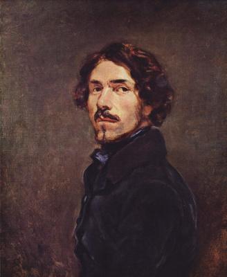 Eugene Delacroix. Self-portrait